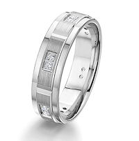 Item # G67202WE - 18K White Gold Diamond Wedding Ring