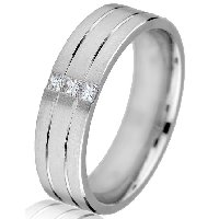 Item # G679238WE - 18K White Gold Diamond Wedding Band