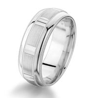 Item # G86858WE - White Gold Designed Wedding Ring