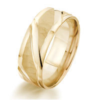 Item # G87155E - 18Kt Yellow Gold Carved Wedding Ring