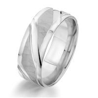 Item # G87155WE - White Gold Carved Wedding Ring