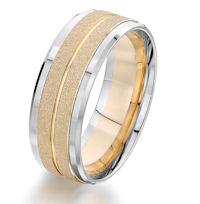 Item # G87207E - 18Kt Two-Tone Wedding Ring