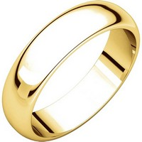 Item # H112945E - 18K Yellow Gold 5mm Wedding Band