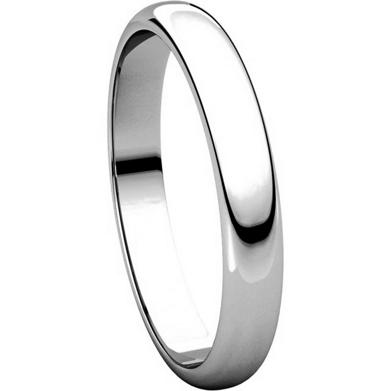 Item # H114853WE View 5 - 18K White Gold High Dome Plain Wedding Band