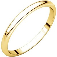Item # H116762E - 18K Yellow Gold High Dome Plain Wedding Ring