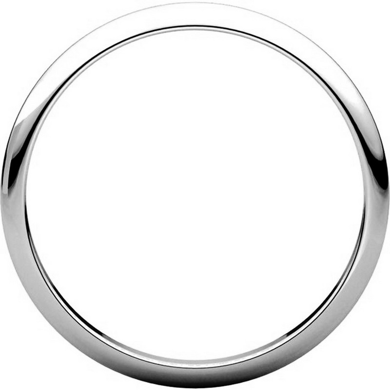 Item # H116762PD View 2 - Palladium High Dome Plain Wedding Ring