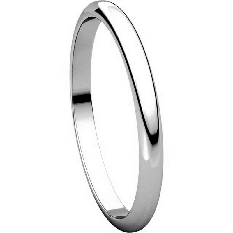 Item # H116762PD View 5 - Palladium High Dome Plain Wedding Ring