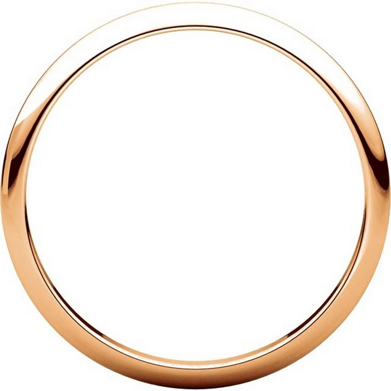 Item # H116762R View 2 - 14K Rose Gold High Dome Plain Wedding Band