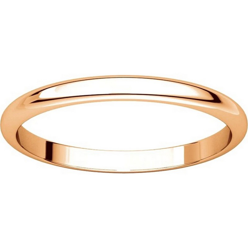Item # H116762R View 3 - 14K Rose Gold High Dome Plain Wedding Band