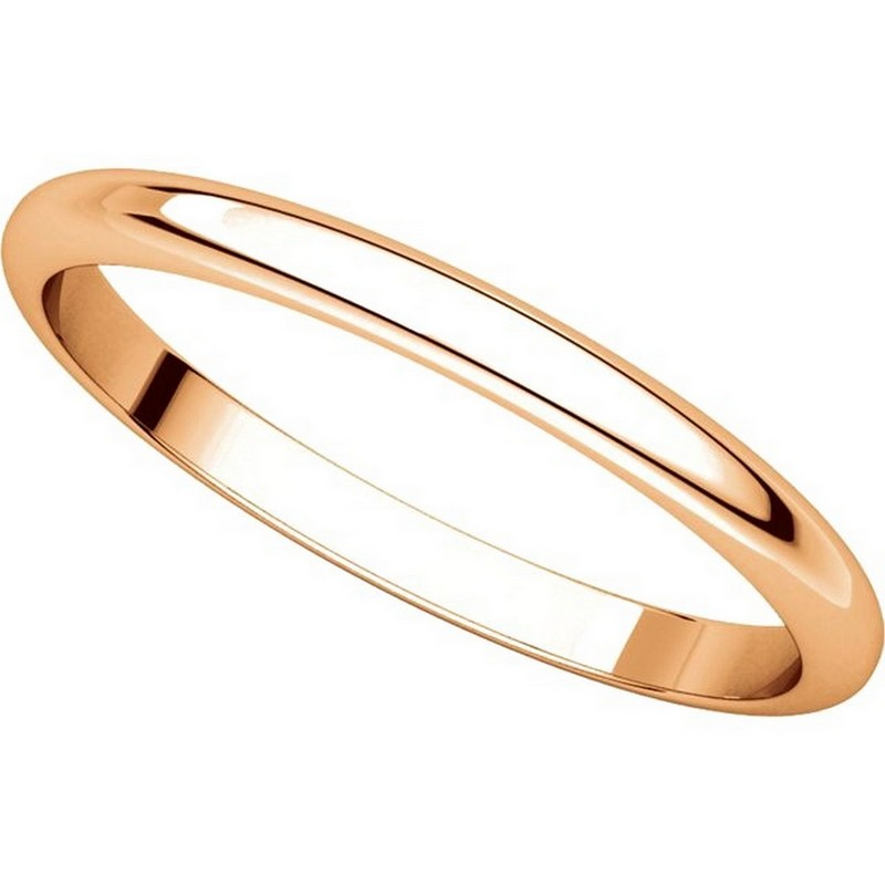 Item # H116762R View 4 - 14K Rose Gold High Dome Plain Wedding Band