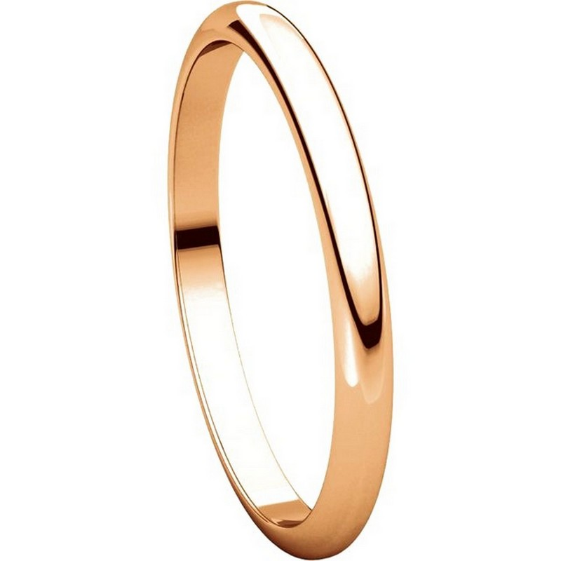 Item # H116762R View 5 - 14K Rose Gold High Dome Plain Wedding Band