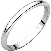 Item # H116762W - 14K White Gold 2 mm Wide High Dome Plain Wedding Ring