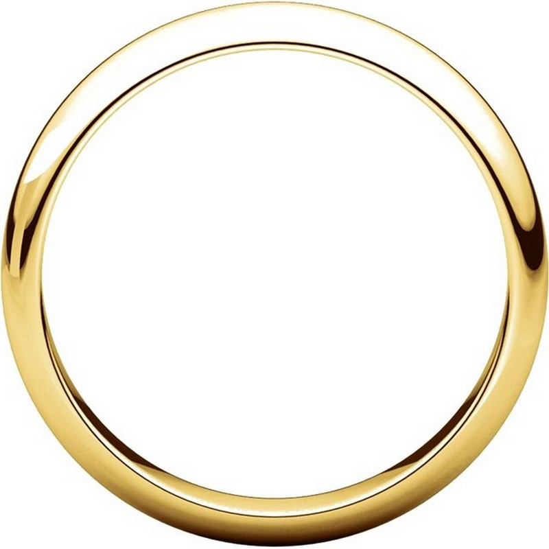Item # H116804 View 2 - 14K Yellow Gold 4mm High Dome Plain Band