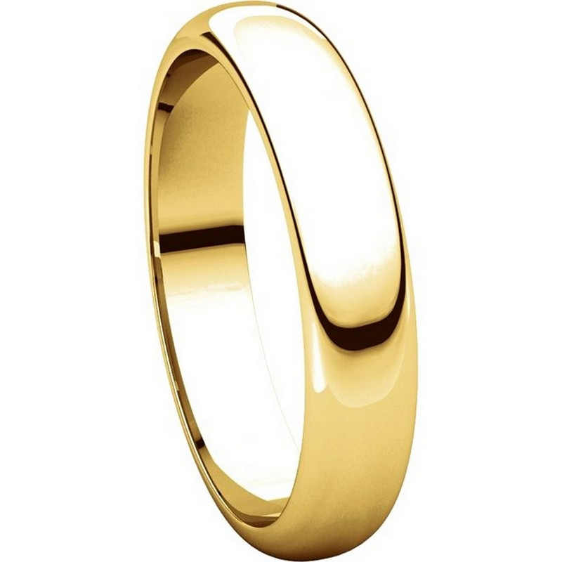Item # H116804 View 5 - 14K Yellow Gold 4mm High Dome Plain Band
