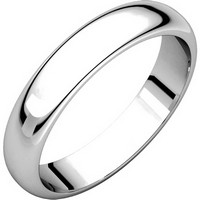 Item # H116804PD - Palladium Plain Wedding Band 4mm Wide High Dome