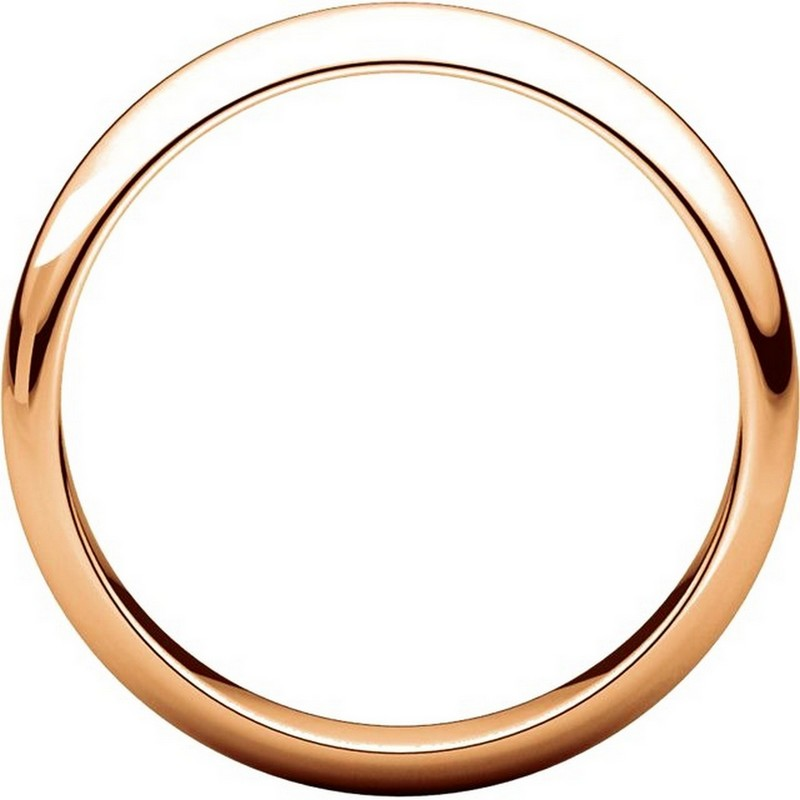 Item # H116804R View 2 - 14K Rose Gold 4mm High Dome Plain Band