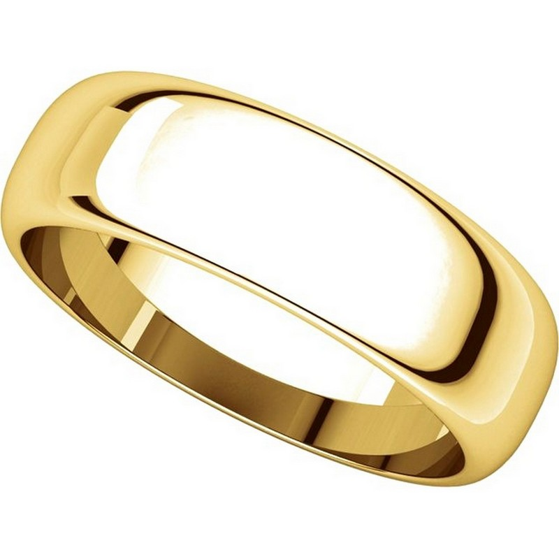 Item # H116826E View 4 - 18K Yellow Gold 6mm Wide High Dome Plain Wedding Band