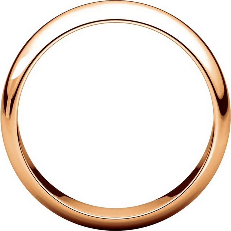 Item # H116826RE View 2 - 18K Rose Gold 6mm Wide High Dome Plain Wedding Band