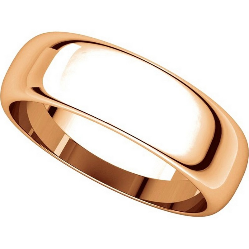 Item # H116826RE View 4 - 18K Rose Gold 6mm Wide High Dome Plain Wedding Band