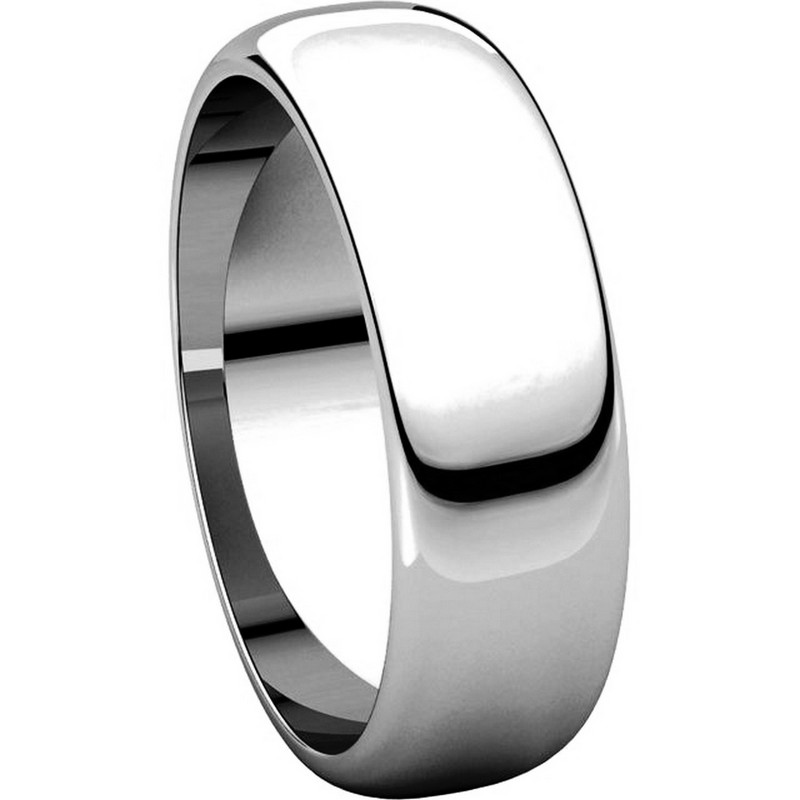 Item # H116826WE View 5 - 18K His and Hers Plain 6mm Wedding Band White Gold