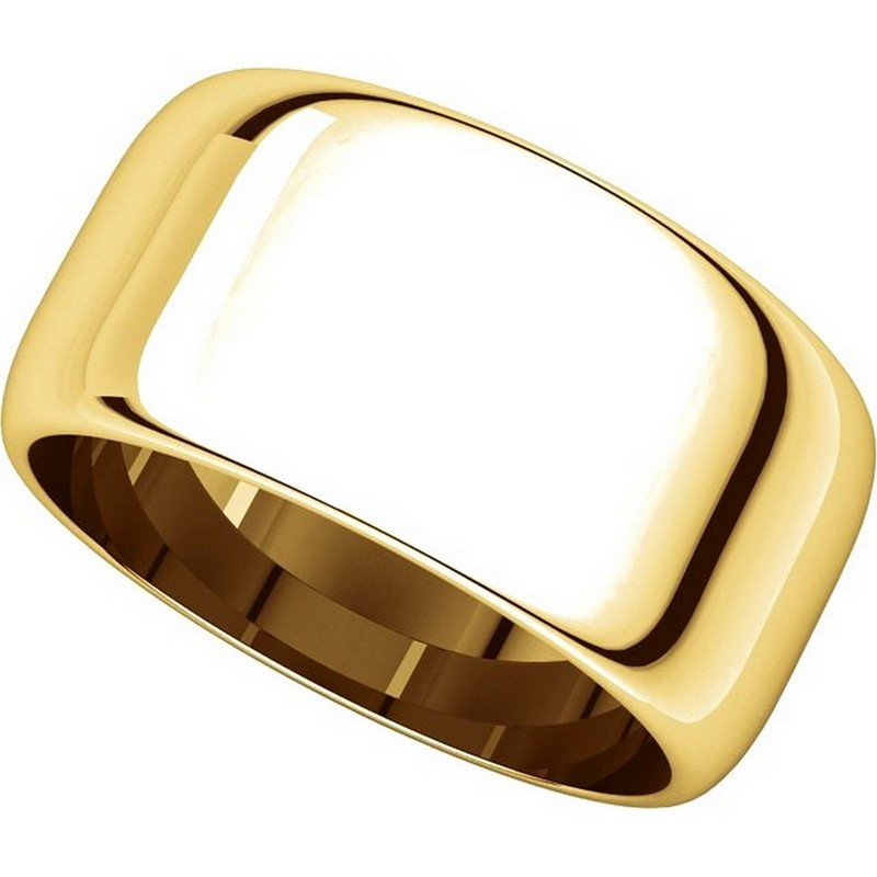 Item # H1168310E View 4 - 18K Gold 10 mm High Dome Plain Band