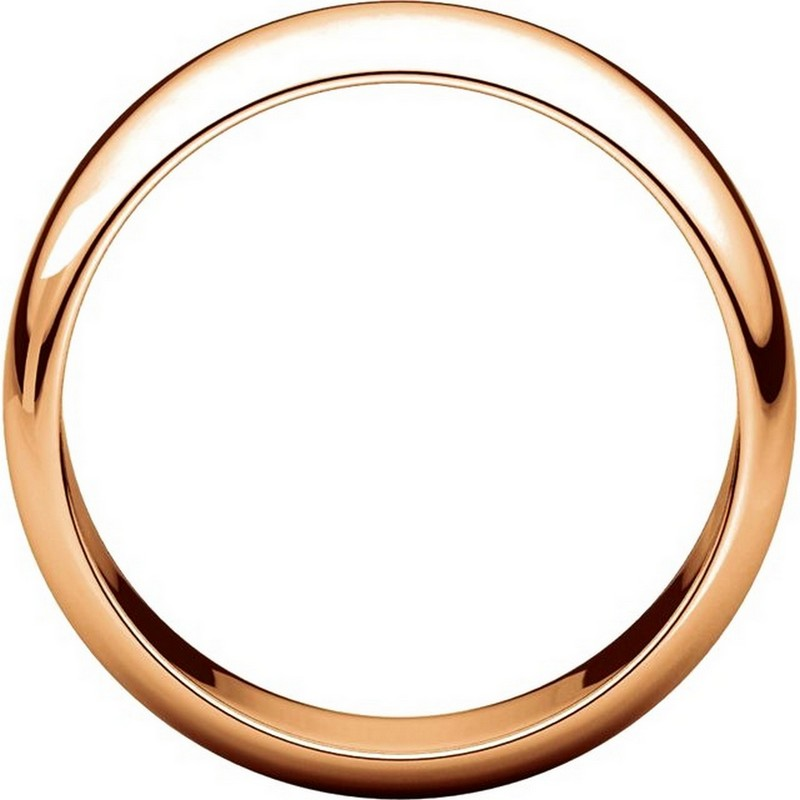 Item # H116837R View 2 - 14K Rose Gold Plain 7mm High Dome Wedding Band
