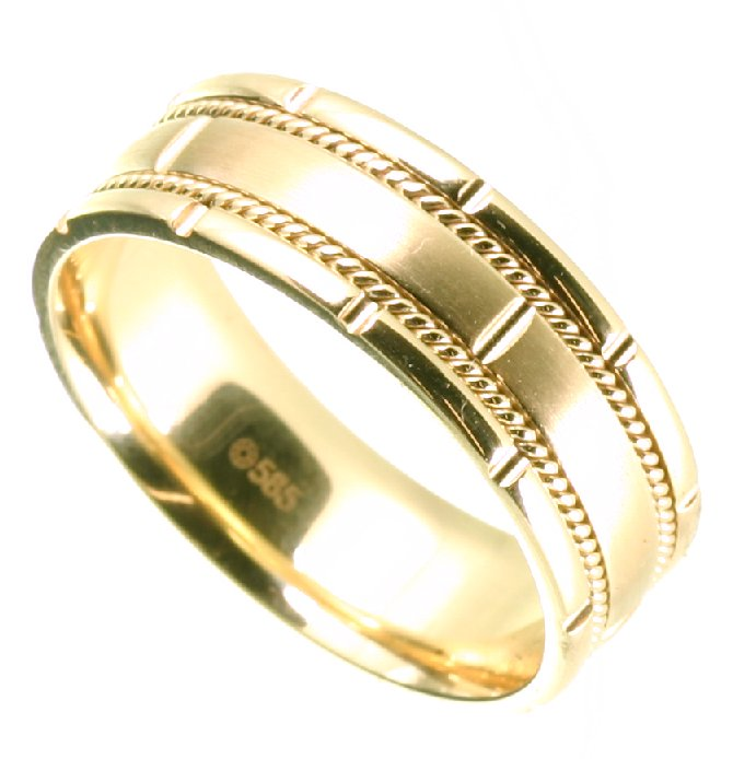 Item # H125731 View 3 - 14K Two-Tone Wedding Band.