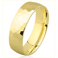Item # H8336E - 18K Hammer Finished Wedding Band