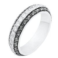 Item # J10934W - 14K Verona Lace Wedding Bands