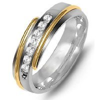 Item # M316327E - 18K Diamond Wedding Band