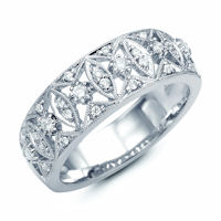 Item # M31746W - 14K White Gold 0.27 Ct Tw Diamond Ring