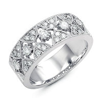 Item # M31747W - 14K White Gold 0.57 Ct Tw Diamond Ring