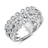 Item # M31748W - 14K White Gold 0.53 Ct Tw Diamond Ring