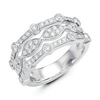 Item # M31749W - 14K White Gold 0.80 Ct Tw Diamond Ring