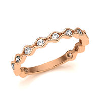 Item # M31887R - Rose Gold 0.33 Ct Tw Diamond Stackable Ring