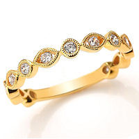 Item # M31888E - 18K Yellow Gold 0.40 Ct Tw Diamond Stackable Ring