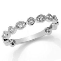 Item # M31888W - 14K White Gold 0.40 Ct Tw Diamond Stackable Ring