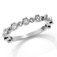 Item # M31890W - 14K White Gold 0.36 Ct Tw Diamond Stackable Ring