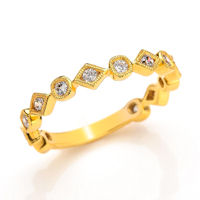 Item # M31891E - 18K Yellow Gold 0.35 Ct Tw Diamond Stackable Ring