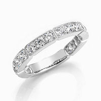 Item # M31898W - 14K White Gold 1.18 Ct Tw Diamond Stackable Ring