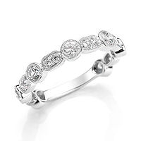 Item # M31901W - 14K White Gold 0.88 Ct Tw Diamond Stackable Ring