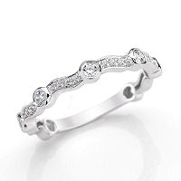 Item # M31903W - 14K White Gold 0.40 Ct Tw Diamond Stackable Ring