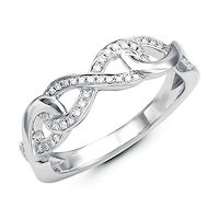 Item # M31910WE - White Gold 0.14 Ct Tw Infinity Diamond Ring
