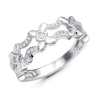 Item # M31912W - 14Kt White Gold 0.16 Ct Tw Diamond Ring