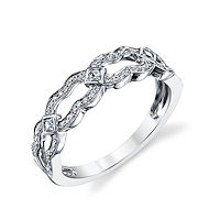 Item # M31913W - 14Kt White Gold 0.20 Ct Tw Diamond Ring
