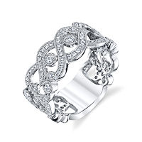 Item # M32096WE - 18Kt White Gold 0.65 Ct TWRing