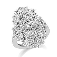 Item # M32099W - 14K White Gold 0.52 Ct Tw Diamond Fashion Ring