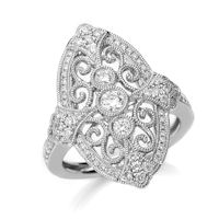 Item # M32100W - 14K White Gold 0.53 Ct Tw Diamond Fashion Ring