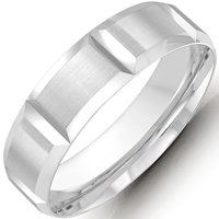 Item # M36072W - White Gold Wedding Band