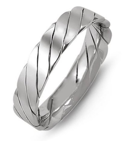 Item # M421520PD - Palladium, 5.0mm wide, comfort fit, hand made wedding band.